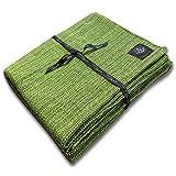 Craft Story Decke YARA I Uni apfelgrün aus 100prozent Baumwolle I Tagesdecke I Sofa-Decke I Couch-Überwurf I Bedspread I Plaid I Picknickdecke I Läufer I Nutzdecke I 170 x 220cm