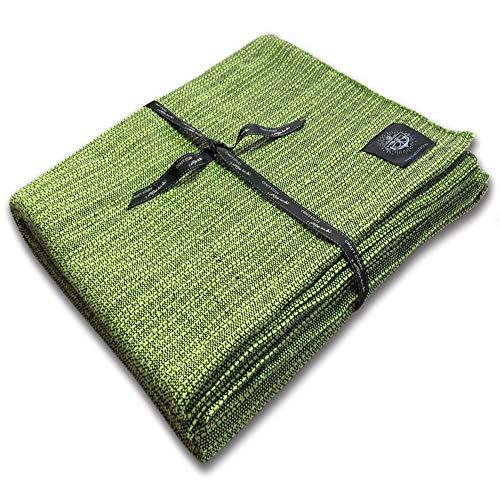Craft Story Decke YARA I Uni apfelgrün aus 100% Baumwolle I Tagesdecke I Sofa-Decke I Couch-Überwurf I Bedspread I Plaid I Picknickdecke I Läufer I Nutzdecke I 170 x 220cm