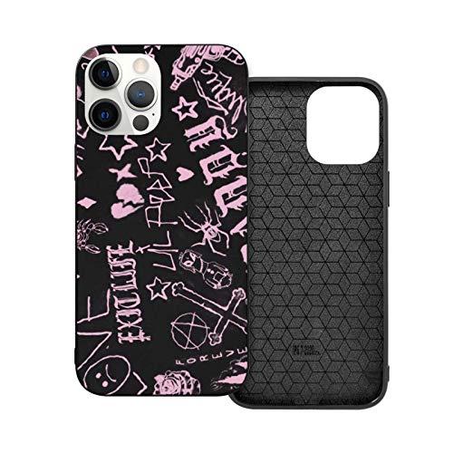 hotrilicoc Compatibile con iPhone 12/12 PRO Max 12 Mini 11 PRO Max SE X/XS Max XR 8 7 6 6s Plus Custodie Lil Peep Nero Custodie per Telefoni Cover