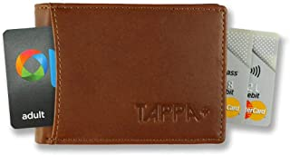 "Tappa Mens RFID""Smart"" Travel Wallet. Highest Quality Minimalist Design. Quick Draw Card Tab. Unique""TAP"" Design for Transport Cards. No Metal Parts That Scratch, Irritate Or Break (Red Earth Tan)"