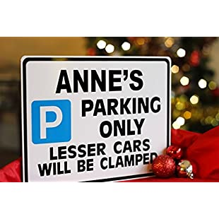 Personalised Car Gift Your Custom Name on Parking Sign | Metal faced Large:Abra-sua-mei