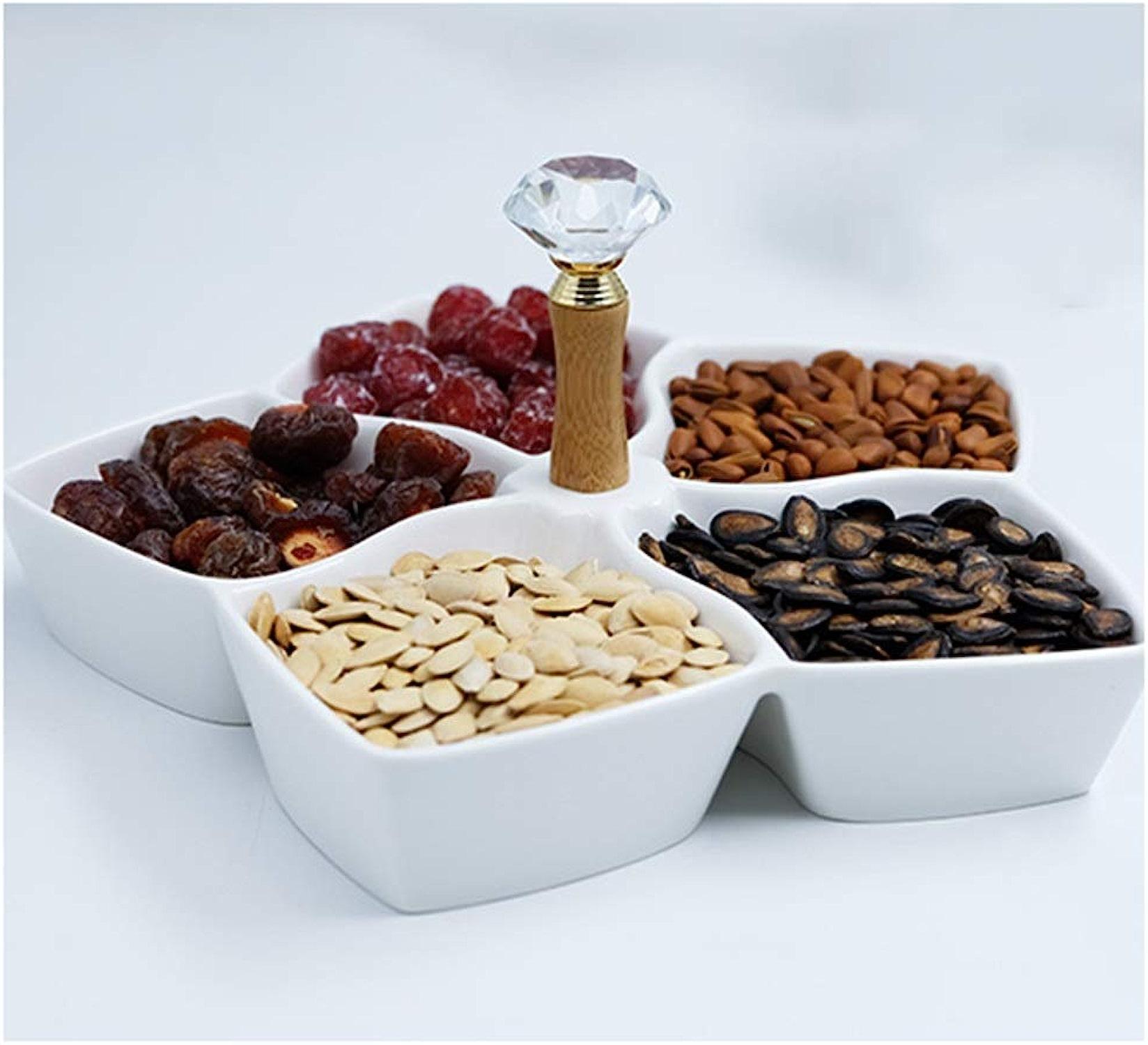 Corbeilles à fruits Panier à fruits en céramique, bols à fruits Boîte de patisseries aux multiples cadeaux -Bols et saladiers (Couleur   blanc, Taille   B)