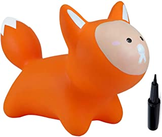 Babe Fairy Jumping Horse with Pump- Bouncy Horses Animals Hopper-Toddlers Inflatable Bouncing Horse Toys (Orange Fox)