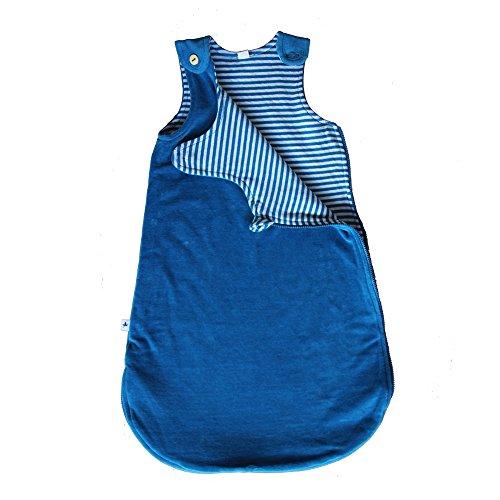 Leela Cotton Baby Nicky-Schlafsack aus reiner Bio-Baumwolle,saphirblau ,Größe A