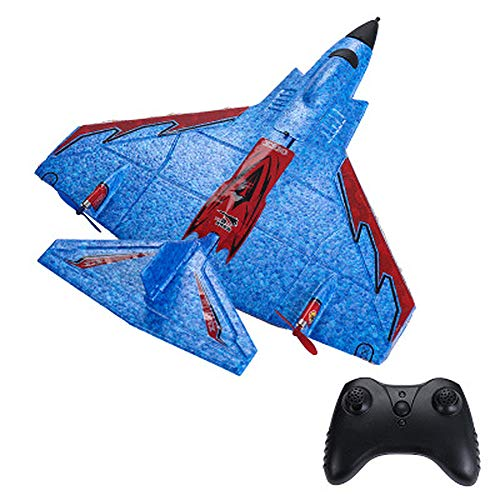 MAQLKC 2 in 1 RC Glider Plane Waterproof Protection Remote Control Airplane Ready to Fly 2.4Ghz Radio Control Aircraft with Great Gift Toy for Adults Or Advanced Kids,Blue