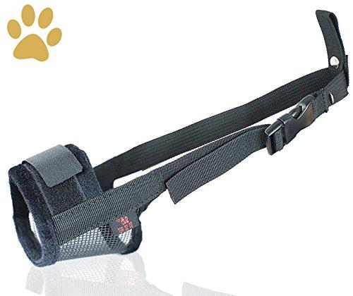 Nylon Hund Maulkorb, Einstellbare atmungsaktive Sicherheit Haustier Hund Maulkörbe Anti-Biss Anti-Bellen Anti-Kauen Sicherheitsschutz, geeignet für kleine mittlere große Hund, einfach zu bedienen