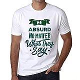 Photo de Homme T Shirt Graphique Imprimé Vintage Tee Be Yourself Absurd Blanc