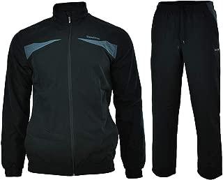 TS Woven Suit SLIM FIT Sports Suit Mens Tracksuit Black