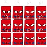 Qemsele Bolsas Regalo Bolsas de Fiesta con Asas 12Pcs Papel Bolsas de cumpleaños dibujos animados bolsas para niños y adultos la fiesta favorece la bolsa, rellenos bolsas fiesta