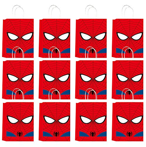 Qemsele Party Bags 12pcs, Kids Birthday Paper Party Bag Give Aways Supplies...
