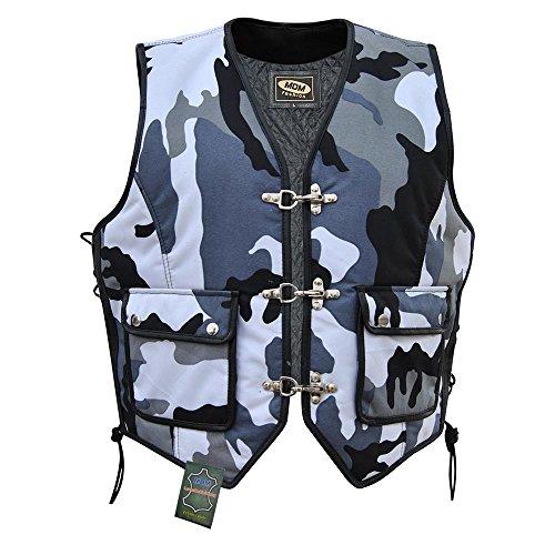 MDM Textil Bikerweste in Camouflage schwarz/weiß (S)