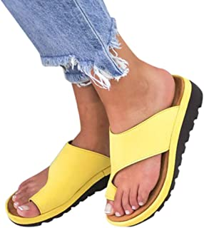 HAALIFE◕‿Womens Wedge Flip Flops Casual Slip On High Heel Platform Wedge Sandals Boho Beach Bling Rhinestone Sandals