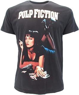 Camiseta original Wallace Uma Thurman Quentin Tarantino Miramax Camiseta negra con etiqueta y etiqueta de originalidad Camiseta