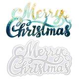 TURMIN Resina Moldes de Feliz Navidad, Silicona Moldes Epoxi con Letras Navideñas, Letrero de Navidad Molde Silicona de Fundición de Ágata Acrílica 3D para Decoración Regalo Artesanal