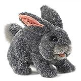 Folkmanis Gray Bunny Rabbit Hand Puppet, 1 ea