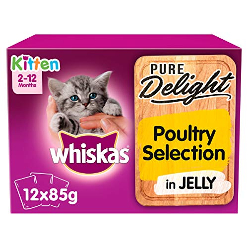 Whiskas Pure Delight Poultry Collection in Jelly Kitten 2-12 Months Wet Cat...