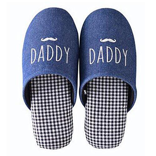 Famille d'hiver et chaleureux Chaussures Indoor Couples Maison Cartoon Slipper, F