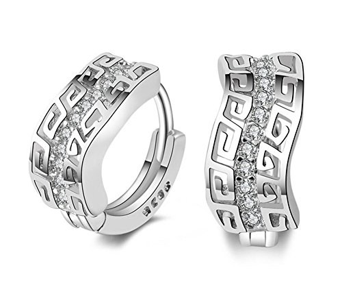 hosaire 1par moda encanto diamante pendientes plata pendientes Stud para las mujeres las niñas presente