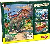 Haba 303377-Puzzles Dinosaurios, a Partir de 4 años Puzle Infantil, Multicolor (303377)