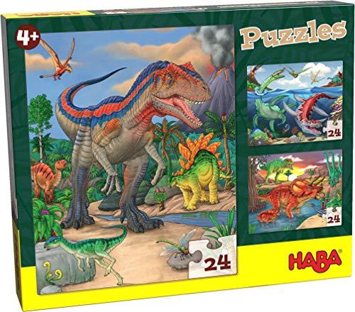 Haba 303377-Puzzles Dinosaurios, a Partir de 4 años Puzle I