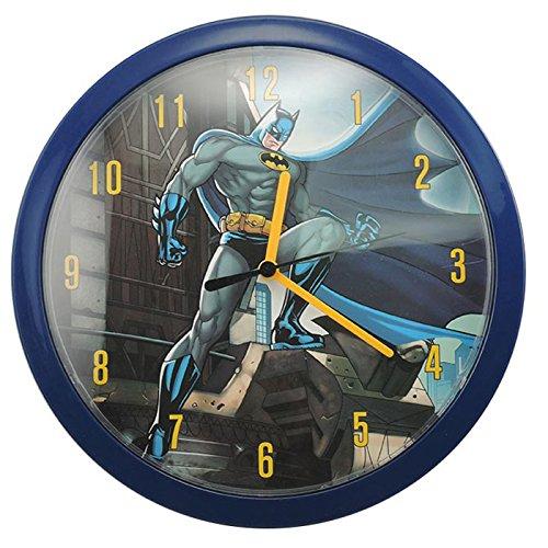 BATMAN Wanduhr, Kunststoff, dunkelblau, 26 x 4 x 26 cm