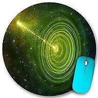 PATINISA ラウンドマウスパッド、ある宇宙を別の宇宙に接続できるワームホールまたはブラックホールの漏斗状のトンネル、PC ノートパソコン オフィス用 円形 デスクマット、ズされたゲーミングマウスパッド 滑り止め 耐久性が 200mmx200mm