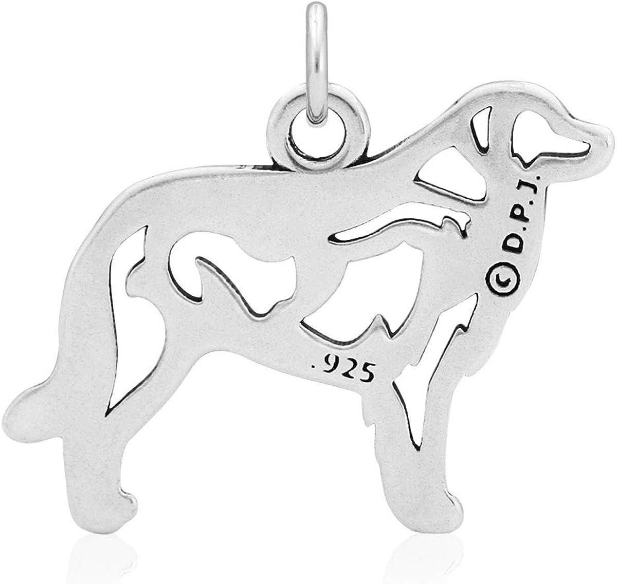 Sterling Silver Great Pyrenees Pendant w//Fox in Body