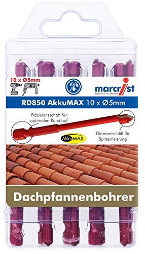 MARCRIST RD850 AkkuMAX 5mm 10er Set für schnelles bohren von Dachpfannen und Ziegel mit dem Akkuschrauber