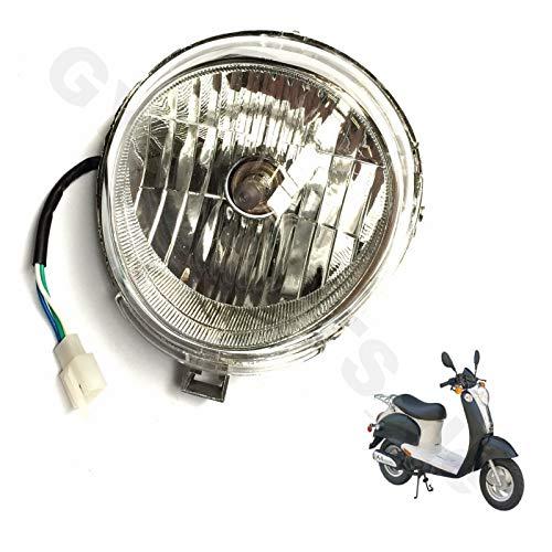 SCHEINWERFER LAMPE komplett für 2- & 4-TAKT RETRO ROLLER 50 z.B.für viele RETRO ROLLER MODELLE BAOTIAN BT49QT-11 MOTOWORX JONWAY BENZHOU YIYING YY50QT-15