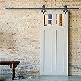 Puerta de Granero Corredera Set para Cocina, Sala de Estudio, Vestuario, Club, Bar (Diamante- 183cm)