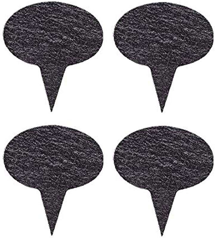 VersaChalk Black Slate Cheese Markers Set Of 4 Round Small Rustic Farmhouse Decor Chalkboard Signs For Charcuterie Cheese Board Serving Tray Accessories