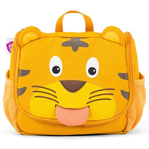Affenzahn Kulturtasche - für 1-5 Jährige Kinder im Kindergarten als Kulturbeutel für Mädchen und Jungen - Tiger - Gelb