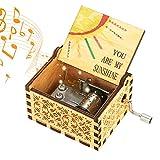 LINGSFIRE Carillon in Legno You Are My Sunshine, Pure Hand-Classical Sei Il Mio Sole Music Box Hand-Wooden Music Box Artigianato in Legno creativi I Migliori Regali