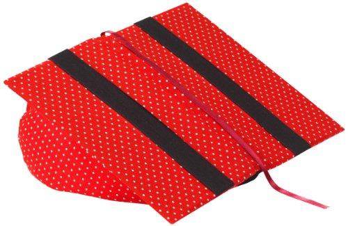 Klein & More Buchstütze Leselotte Pünktchen rot Lesekissen für bequemes Lesen, Baumwolle, gängige Buchgrößen geeignet