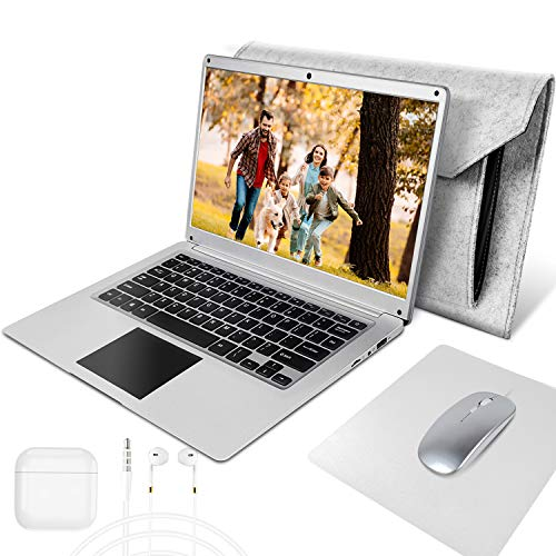 NBD Laptop 14 inch Windows 10 Netbook,4 GB RAM, 64 GB eMMC,Support 256GB TF card and 1TB SSD Expansion,Laptops equipped with Laptop Bag, Mouse, Mouse Pad & Headphone
