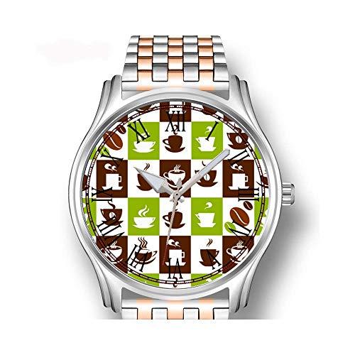 Herenhorloges roodgoud roestvrij staal sport business horloge beer trots vlag Bears regel engelenvleugel beer kraag polshorloge
