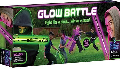 Starlux Games Glow Battle: A Ninja Game with Glow-in-The-Dark Foam Swords