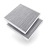 Amazon Basics Cabin air filter (2-pack, gray) works with a vehicle's ventilation system to create cleaner inside air. Measures 8.29 by 8.07 by 1.14 inches
