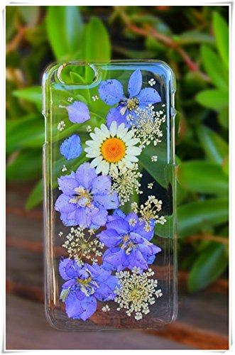 One Life ,one jewerly iPhone 5/se/5s, caja de plástico duro de flores reales secas prensadas diseño de margaritas blancas (qué tipo de teléfono móvil se necesita?