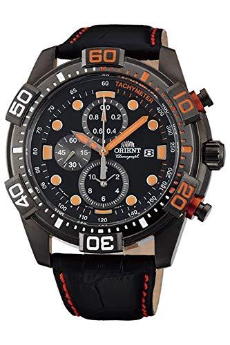 Orient Herren Chronograph Quarz Uhr mit Leder Armband FTT16003B0