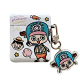 UR Sunshine Creative Cute Kawaii ONE Piece Theme Luffy Tony Tony Chopper Pattern Square Earphone Case, Soft Silicone Gel Earbud Cover Case Compatible with AirPods 1/2 +Keychain -Chopper