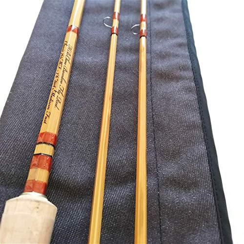 GUFIKY Classic Bamboo Fly Rod 7'6ft,3wt,2 Pieces Handmade Fishing Rods with a Free Spare Tip