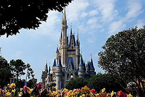 XJLAC Disneyland, Castillo de Cuento de Hadas, Rompecabezas para Adultos, 1000 Piezas, Rompecabezas para niños, Juguetes, Rompecabezas educativos, Juguetes de Madera para niños