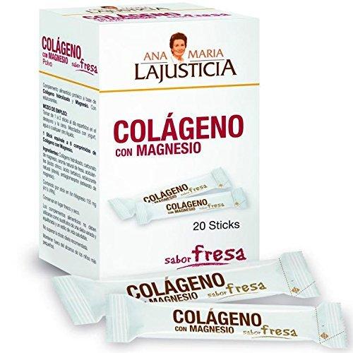 ANA MARIA LAJUSTICIA COLAGENO con MAGNESIO sabor fresa 20sticks by ANA MARIA...