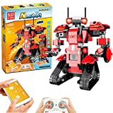 Building Blocks Robot Toy, Kids Remote Control STEM Robot Toy Educational Learning DIY Robotics Kit Rechargeable RC Electronic Robots for Boys and Girls 8 Years and Up, Creative Birthday Gift