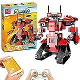Bausteine RC Roboter, Kinder Fernbedienung STEM Roboter Toy Pädagogisches Lernen DIY Robotics Kit Intelligente Wiederaufladbare Roboter Lustiges Geschenk für 8+ jährige Jungen Mädchen ( 392 Stück )