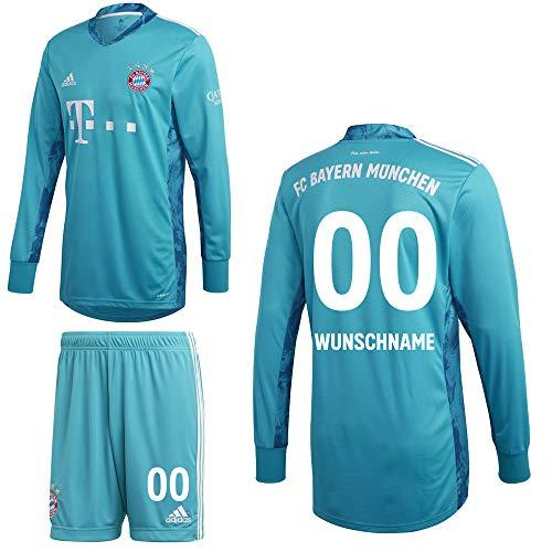 adidas FCB FC Bayern München Torwartkit Heim Torwartset 2020 2021 Kinder Wunschname 00 Gr 152