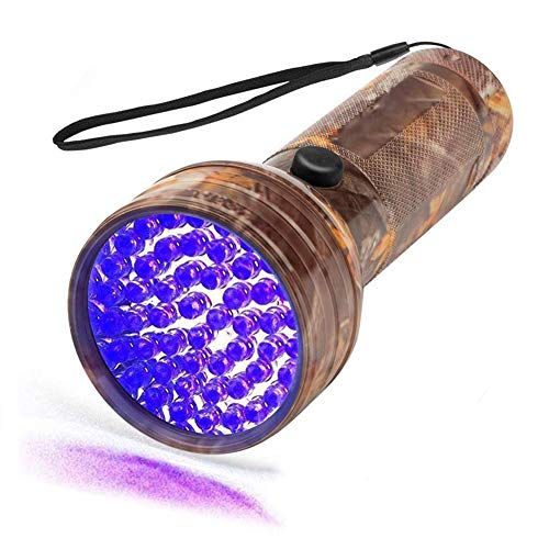 UV Flashlight UV BlackLight Flashlight 51 LED 395nm UV Lights Ultraviolet Flashlights Detector for Dog Cat Urine Pet Stains Bed Bug Black Light Flashlight for Scorpion Hunting