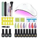 ab gel Gel Nail Polish Kit with UV Light Nail...