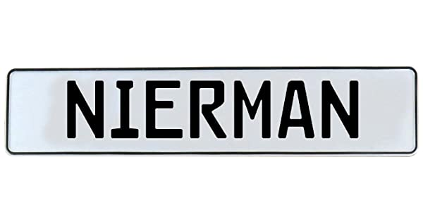 Nierman White Stamped Aluminum Street Sign Mancave Vintage Parts 716597 Wall Art